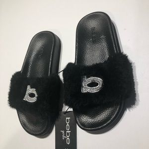 5/$25 Bebe girls faux fur sandals size 13/1 Medium